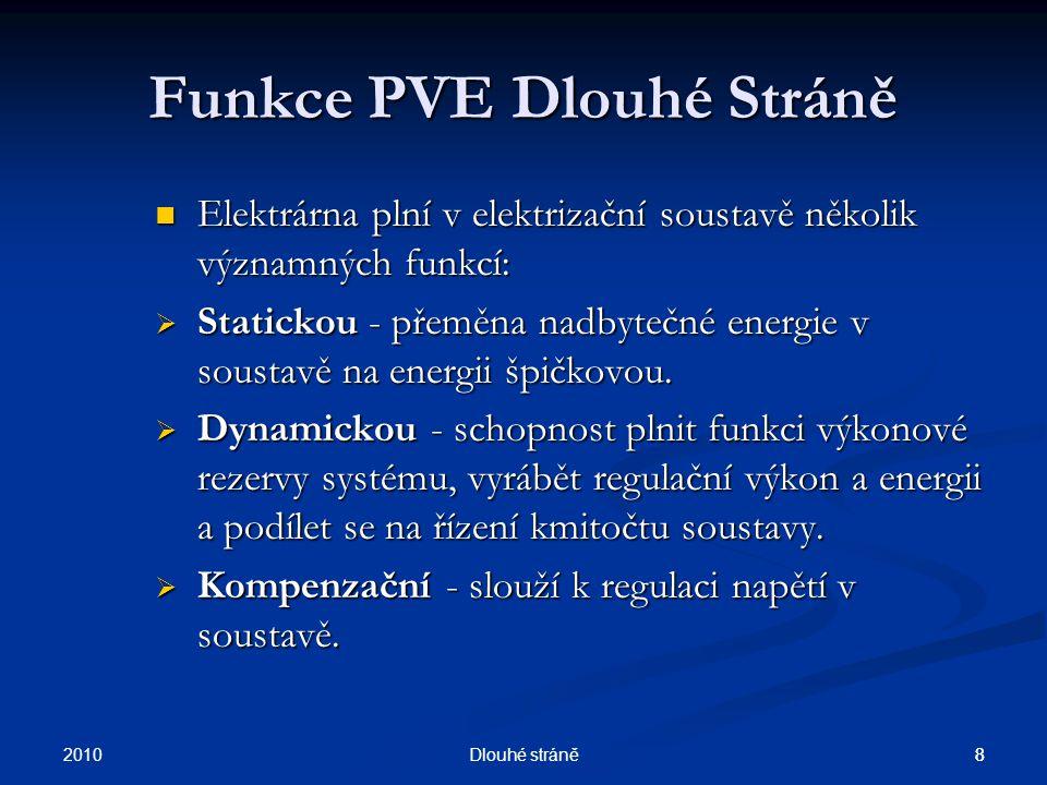 2010 7Dlouhé stráně 7 Základní parametry přečerpávací vodní elektrárny Dlouhé Stráně Elektrárna má tři nej : 1.Největší reverzní vodní turbínu v Evropě - 325 MW.