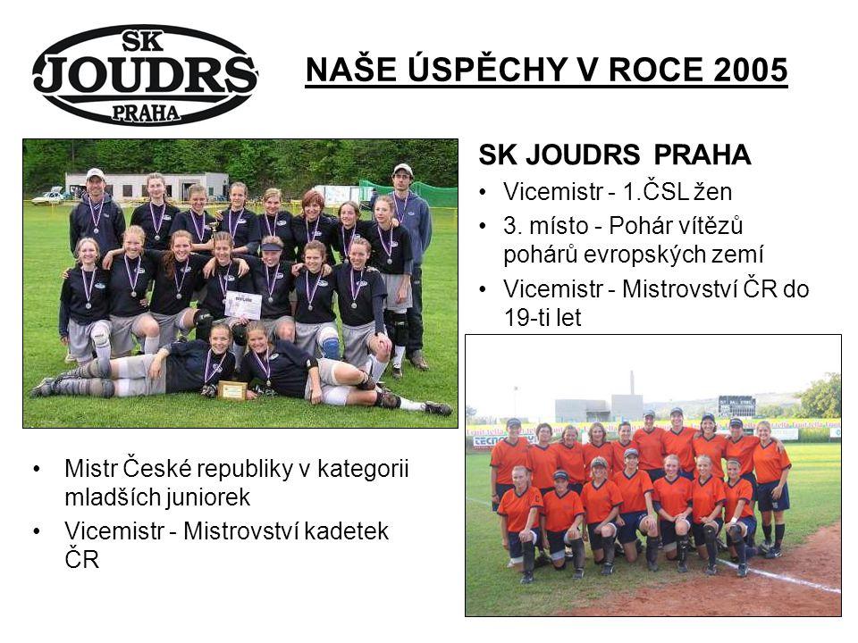 NAŠE ÚSPĚCHY V ROCE 2005 SK JOUDRS PRAHA Vicemistr - 1.ČSL žen 3.