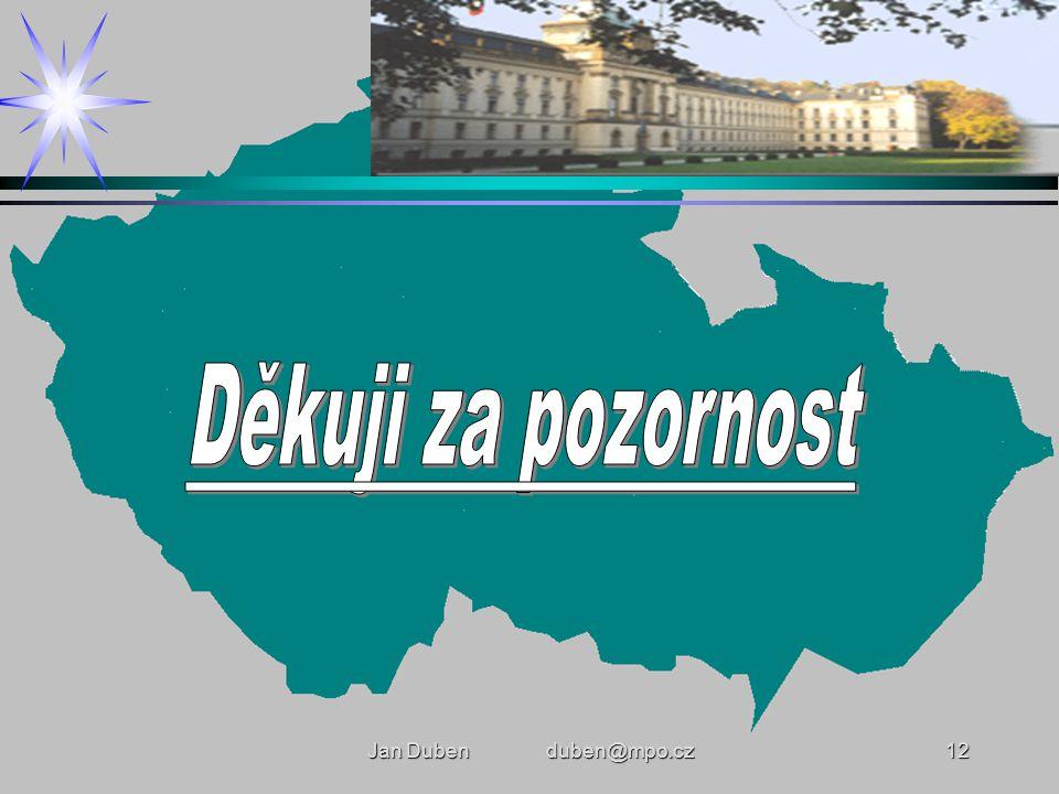 Jan Duben duben@mpo.cz12