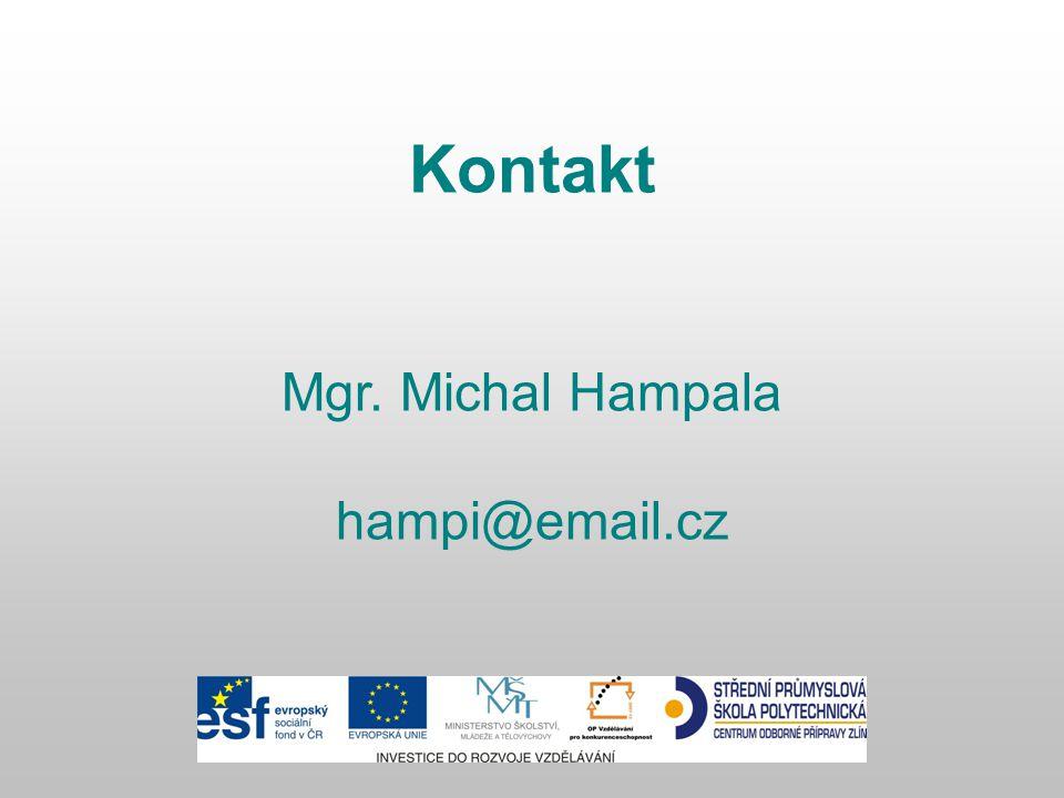 Kontakt Mgr. Michal Hampala hampi@email.cz