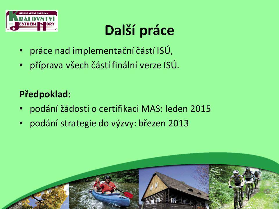 Další práce práce nad implementační částí ISÚ, příprava všech částí finální verze ISÚ.