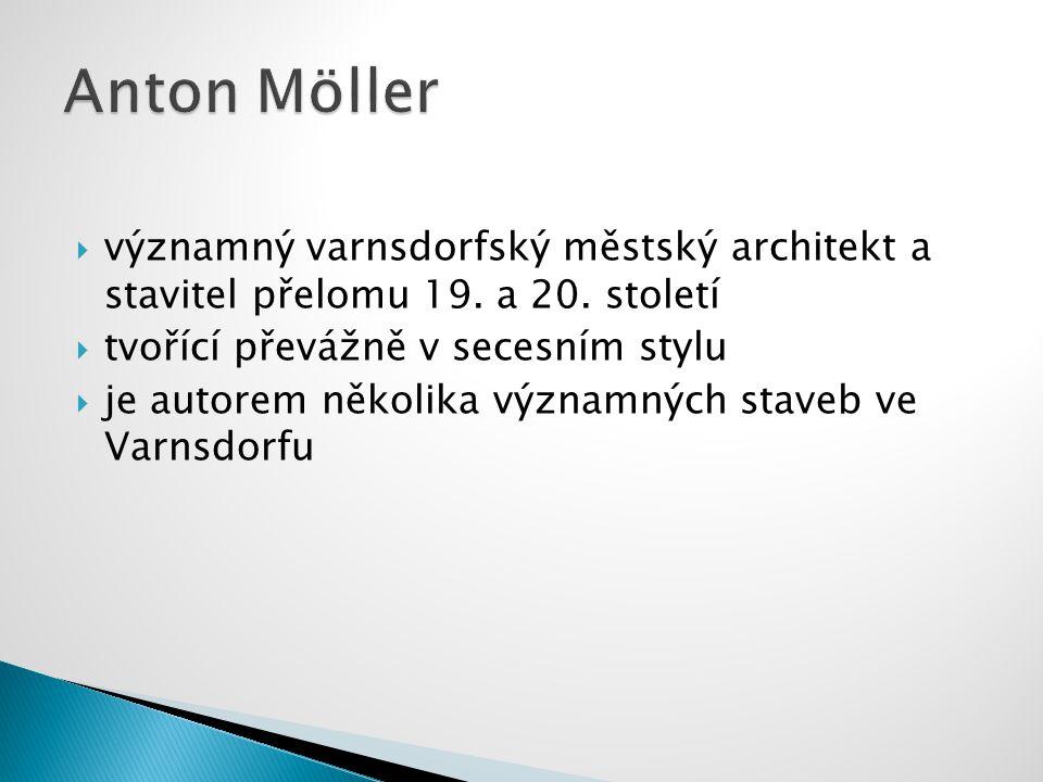 významný varnsdorfský městský architekt a stavitel přelomu 19.