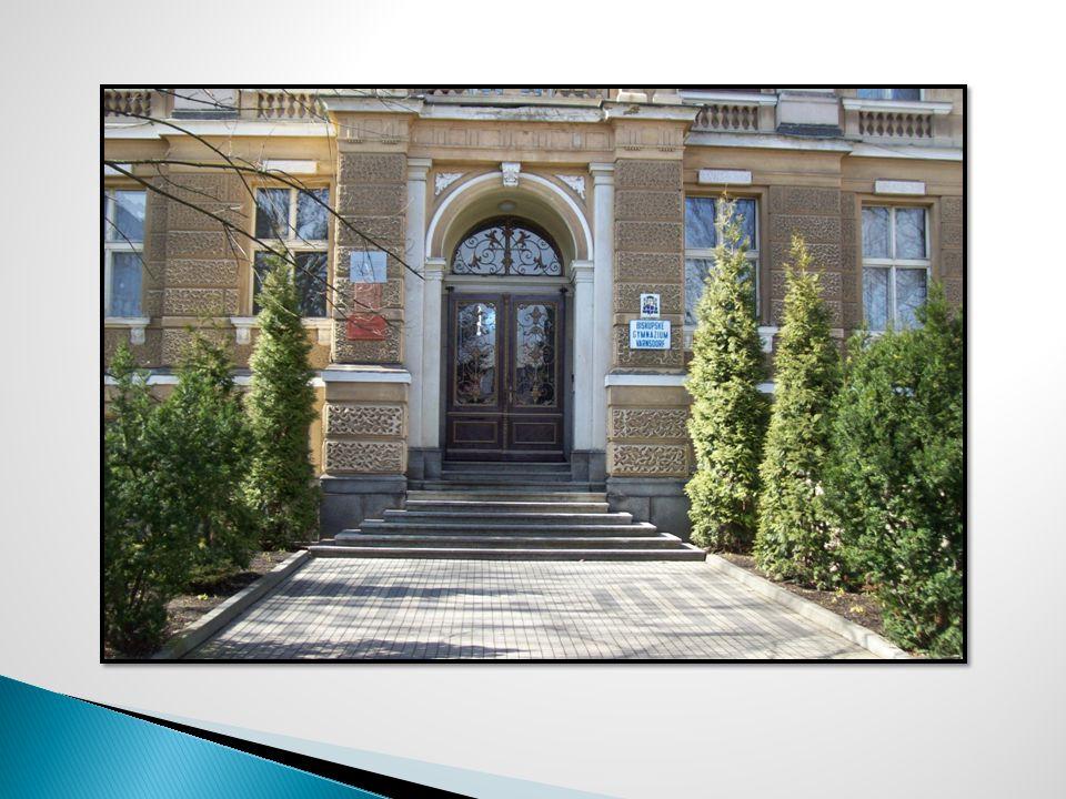 Bývala jatka Kostel bez věže Hrádek Gymnázium