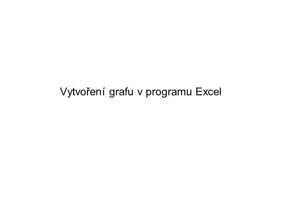 Vytvoření grafu v programu Excel