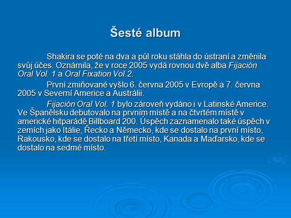 """Ocenění v roce 2002 V září 2002 vyhrála Shakira cenu """"Viewer's Choice Award"""" při udělování cen """"MTV Video Music Awards"""" s písní """"Suerte"""" (španělská ve"""