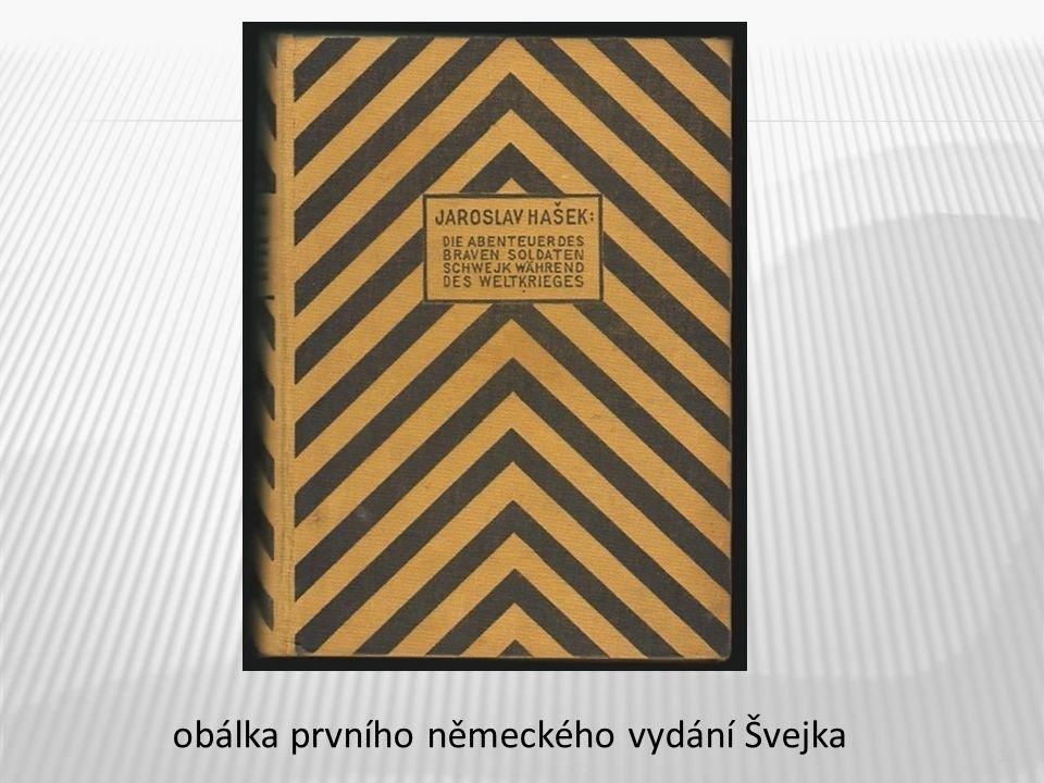 16 obálka prvního německého vydání Švejka