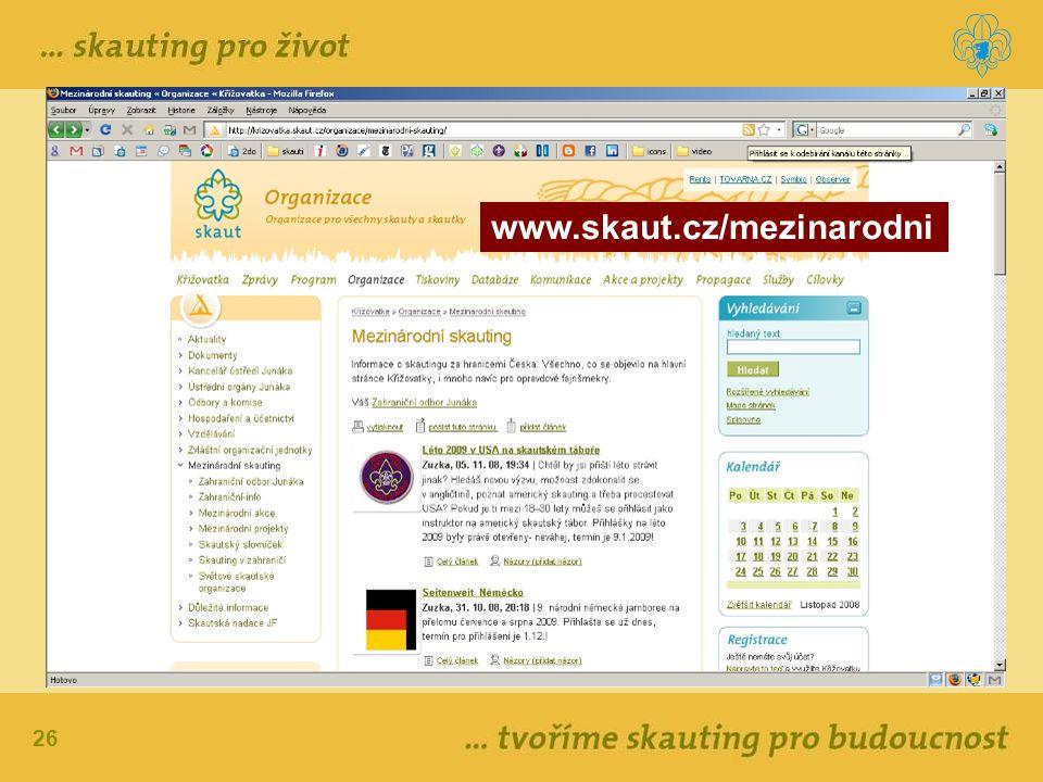 26 www.skaut.cz/mezinarodni