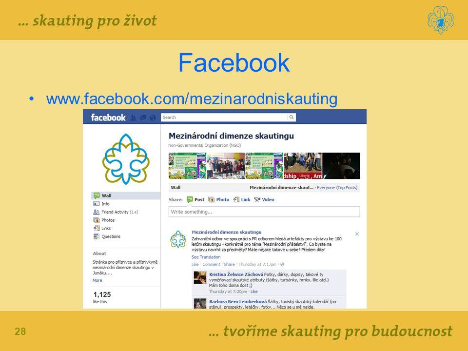 28 Facebook www.facebook.com/mezinarodniskauting