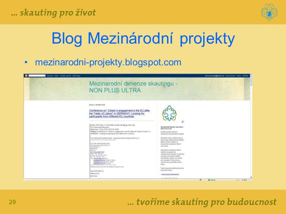 29 Blog Mezinárodní projekty mezinarodni-projekty.blogspot.com