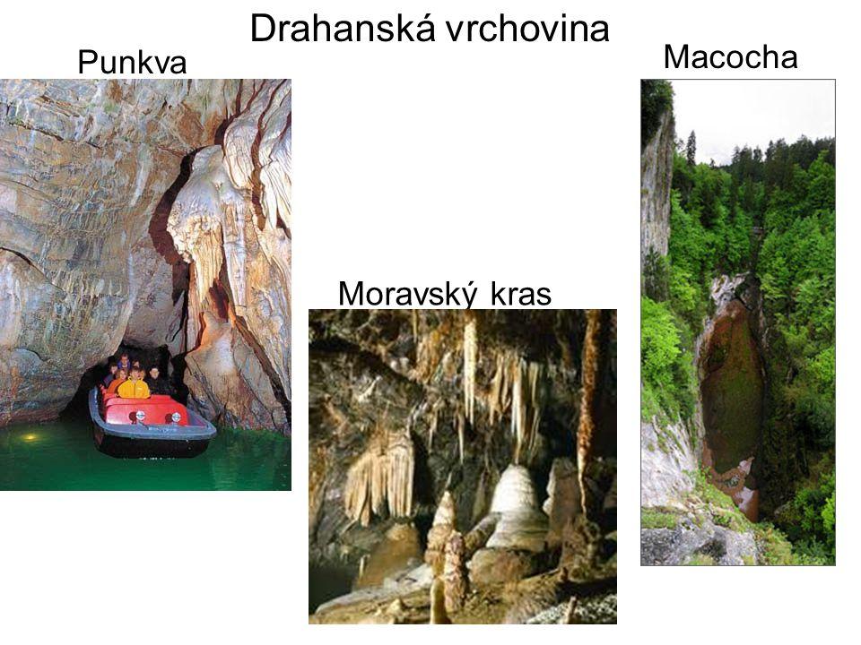 Českomoravská vrchovina – žula, rula, četná údolí řek.