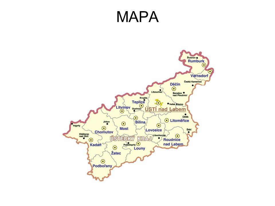 OBCE Obce Ústeckého kraje Na území Ústeckého kraje se nachází 354 obcí.