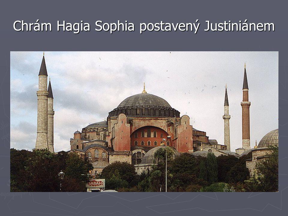 Chrám Hagia Sophia postavený Justiniánem