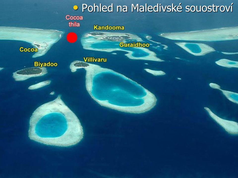 Pohled na Maledivské souostroví Pohled na Maledivské souostroví