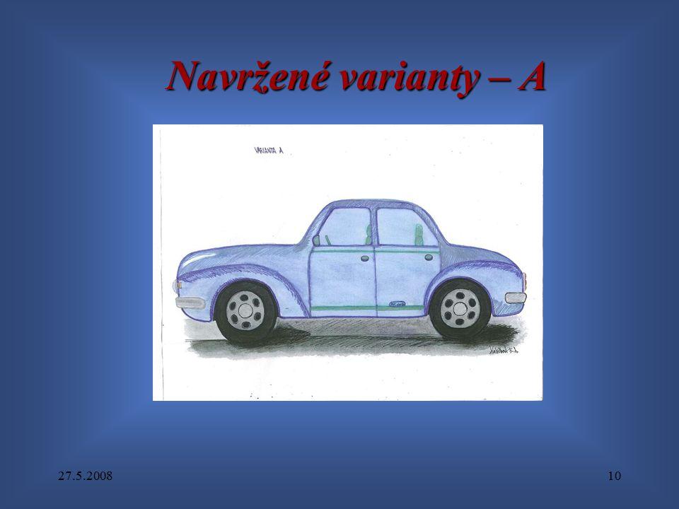 27.5.200810 Navržené varianty – A