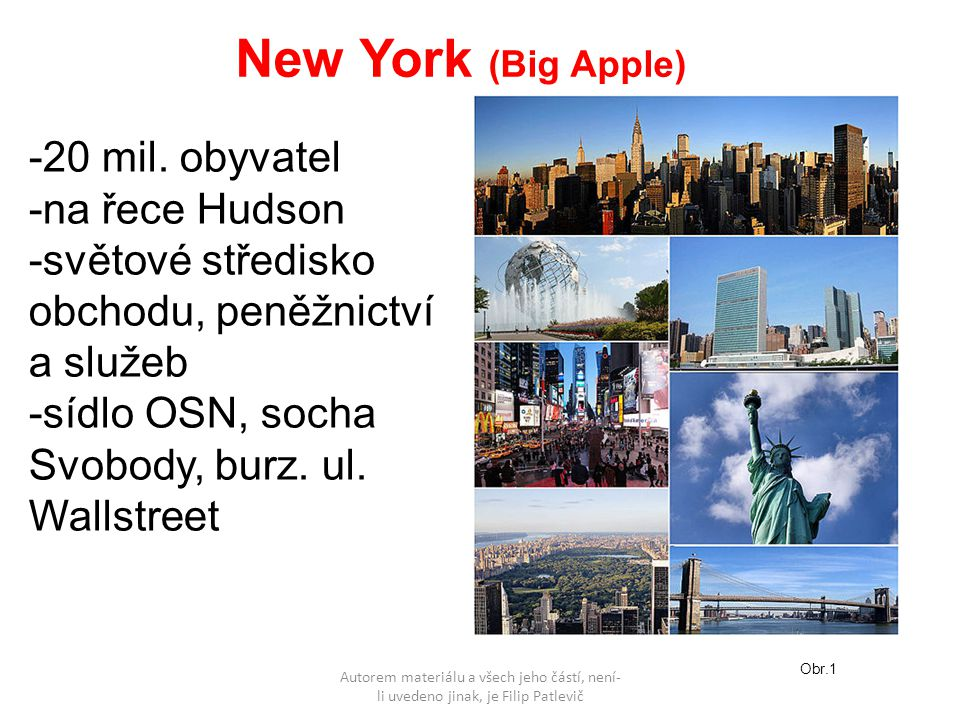 New York (Big Apple) -20 mil.