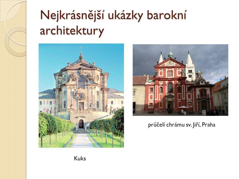 Nejkrásnější ukázky barokní architektury Kuks průčelí chrámu sv. Jiří, Praha