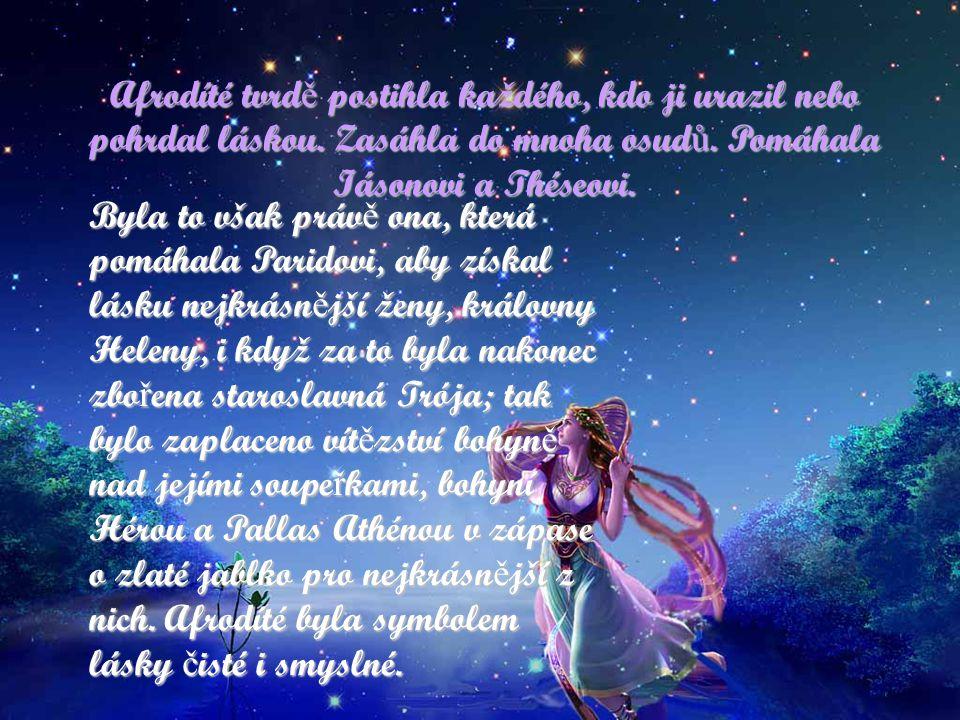 Venuše, ranní hv ě zda Afrodíté je ř ecká bohyn ě lásky, v ř ímské mytologii se nazývala Venuše. Afrodíté - ř ecká bohyn ě lásky a krásy na staro ř ec