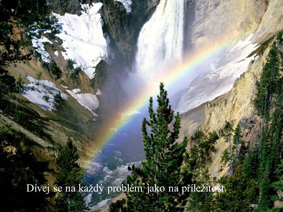 Dívej se na každý problém jako na příležitost.
