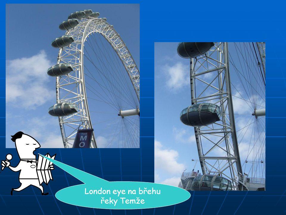 London eye na břehu řeky Temže