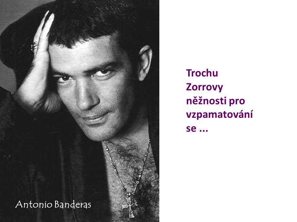 Trochu Zorrovy něžnosti pro vzpamatování se... Antonio Banderas