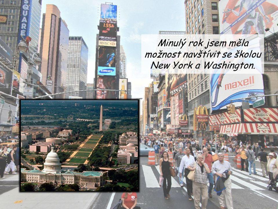 Minulý rok jsem měla možnost navštívit se školou New York a Washington.