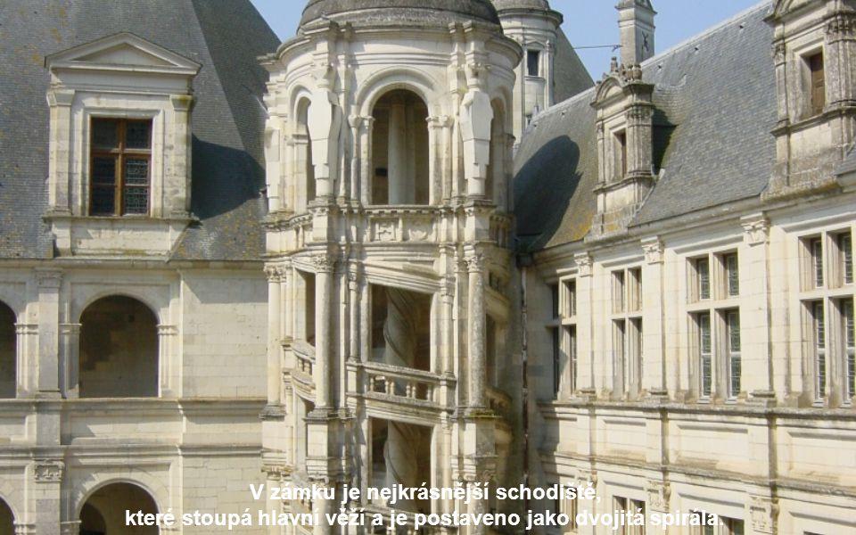 Tvrdí se, že Leonardo da Vinci, kterého František I. přivedl do údolí Loiry v roce 1516, se podílel na návrzích zámku.