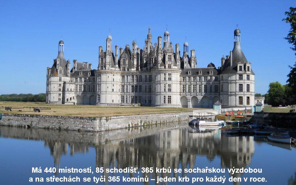 Byl postaven v letech 1519 až 1547 na objednávku Františka I. v zátoce řeky Cosson, levého přítoku Loiry.
