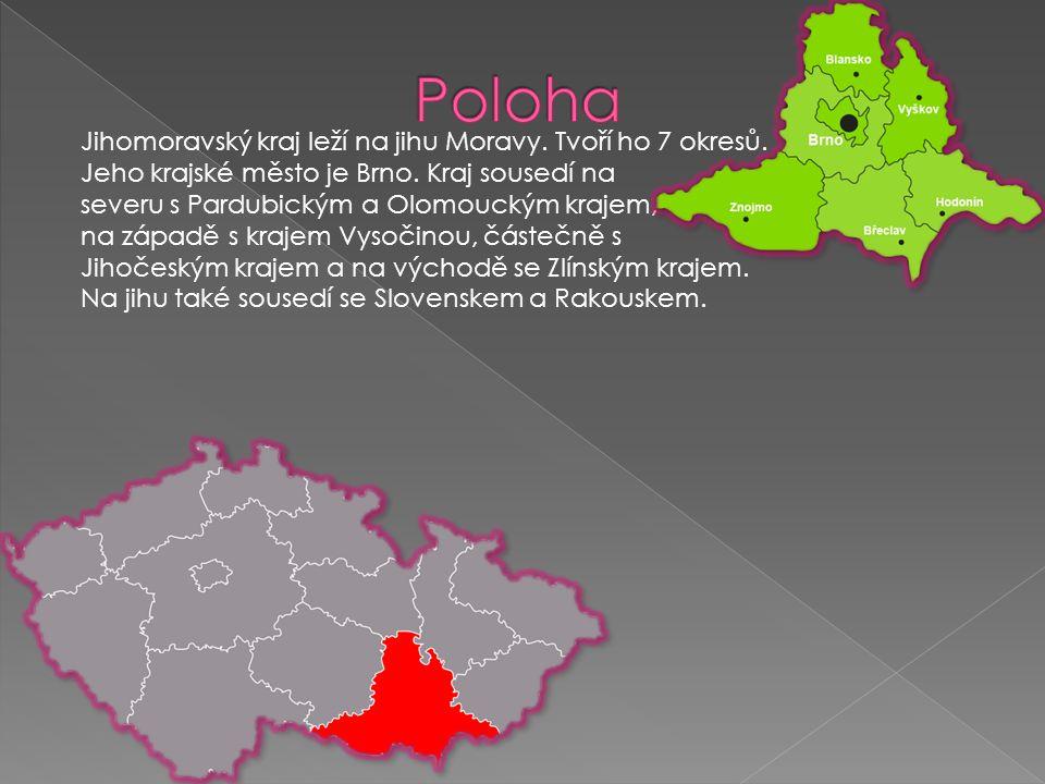 Jihomoravský kraj je v jižní části tvořen převážně nížinami.
