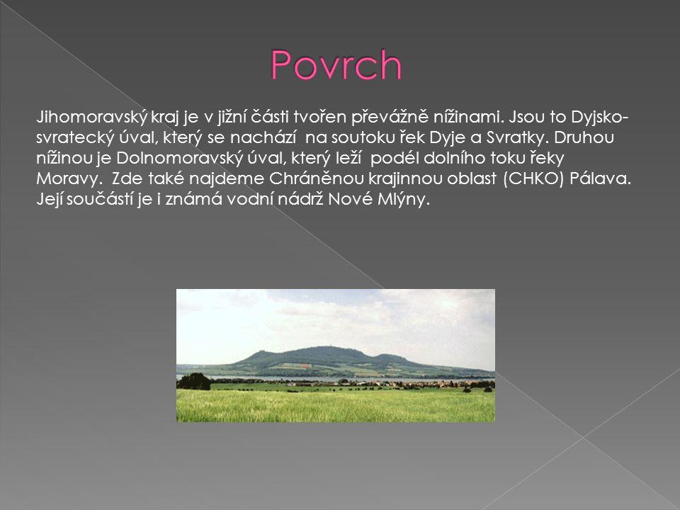 Do západní a severozápadní časti kraje zasahuje Českomoravská Vrchovina.