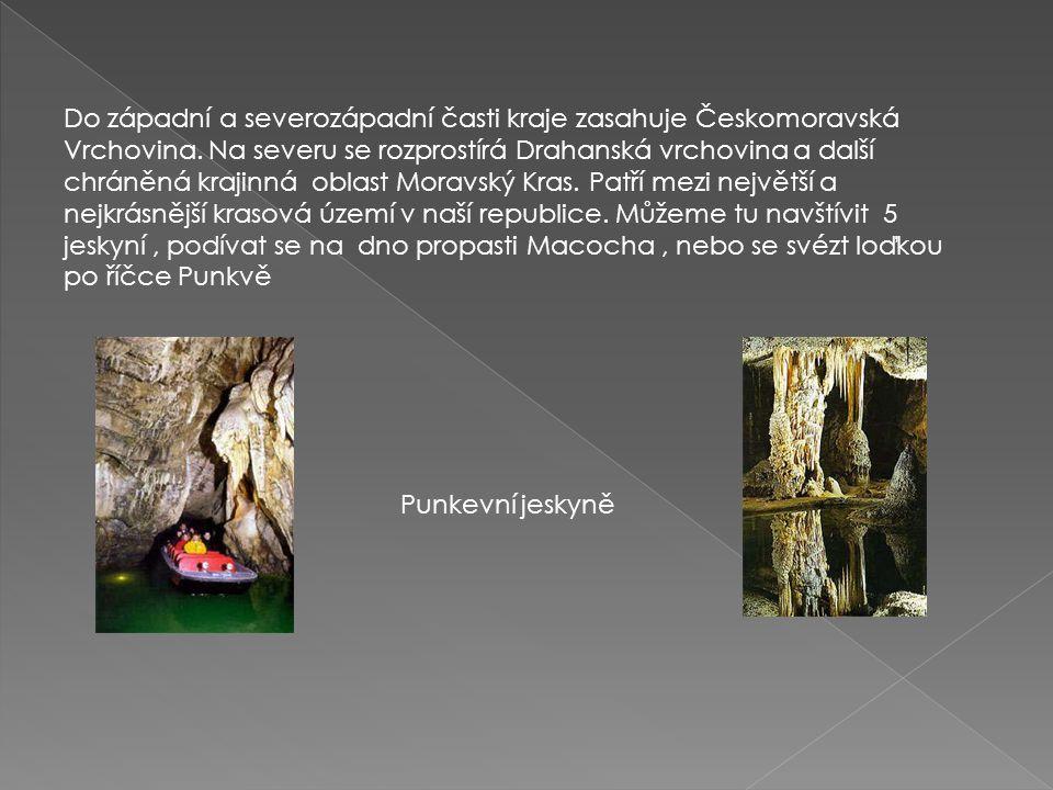 Do západní a severozápadní časti kraje zasahuje Českomoravská Vrchovina. Na severu se rozprostírá Drahanská vrchovina a další chráněná krajinná oblast