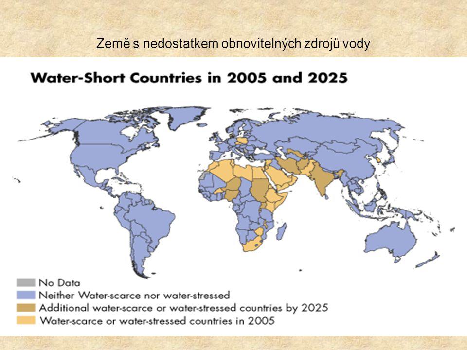Země s nedostatkem obnovitelných zdrojů vody