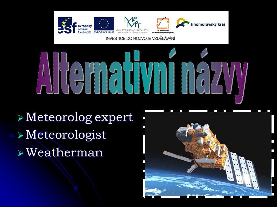  Meteorolog expert  Meteorologist  Weatherman