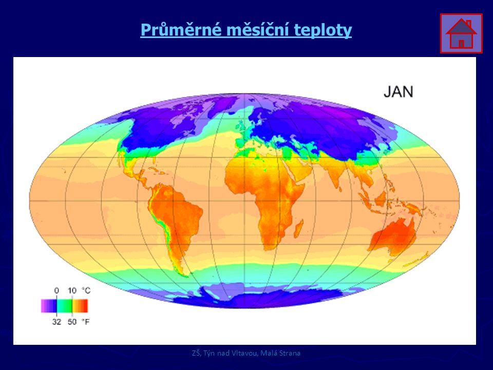 Průměrné měsíční teploty