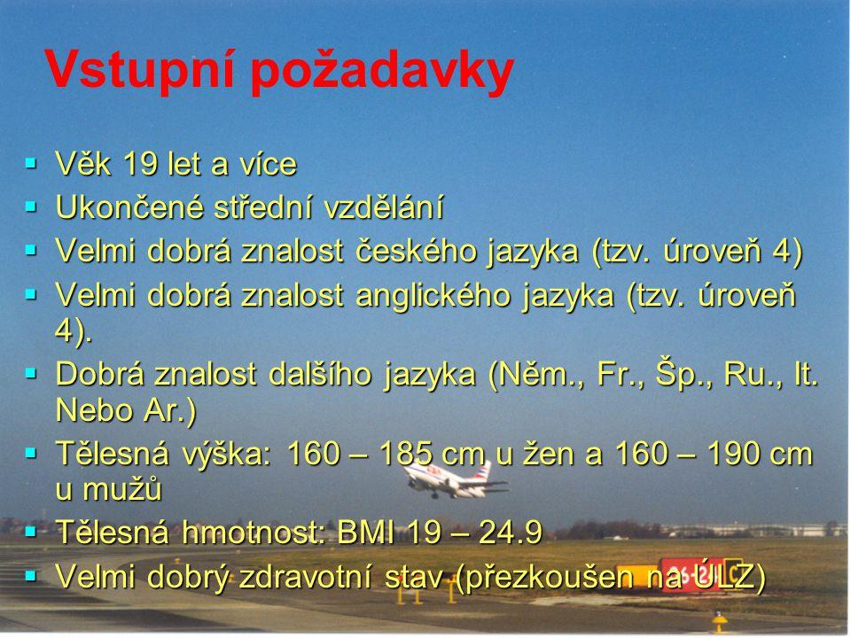 Vstupní požadavky  Věk 19 let a více  Ukončené střední vzdělání  Velmi dobrá znalost českého jazyka (tzv. úroveň 4)  Velmi dobrá znalost anglickéh