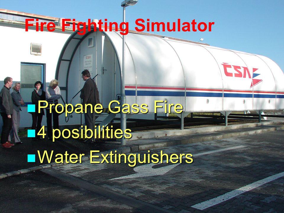 Fire Fighting Simulator Propane Gass Fire Propane Gass Fire 4 posibilities 4 posibilities Water Extinguishers Water Extinguishers