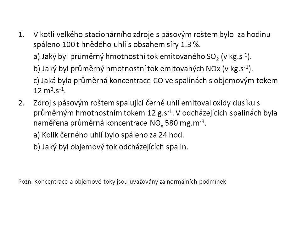 Rozptylové parametry pro bodové zdroje 1.Jakých hodnot budou nabývat rozptylové parametry σ y a σ z pro kouřovou vlečku s délkou osy x = 350m v I.