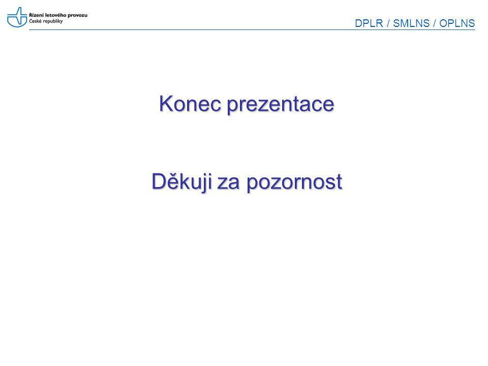 DPLR / SMLNS / OPLNS Konec prezentace Děkuji za pozornost