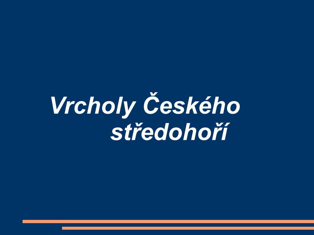 Vrcholy Českého středohoří