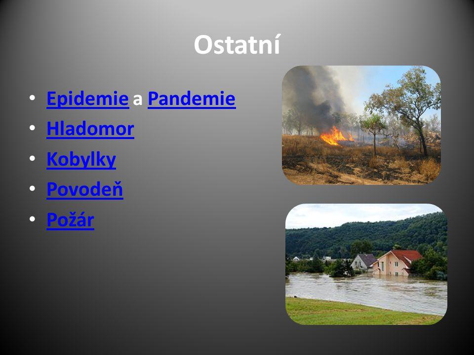 Ostatní Epidemie a Pandemie EpidemiePandemie Hladomor Kobylky Povodeň Požár