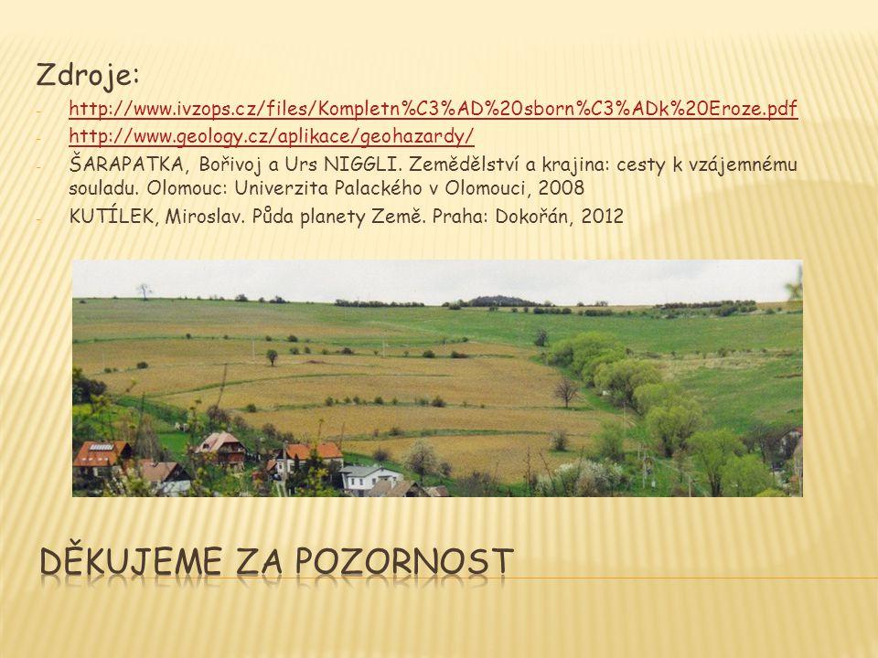 Zdroje: - http://www.ivzops.cz/files/Kompletn%C3%AD%20sborn%C3%ADk%20Eroze.pdf http://www.ivzops.cz/files/Kompletn%C3%AD%20sborn%C3%ADk%20Eroze.pdf -
