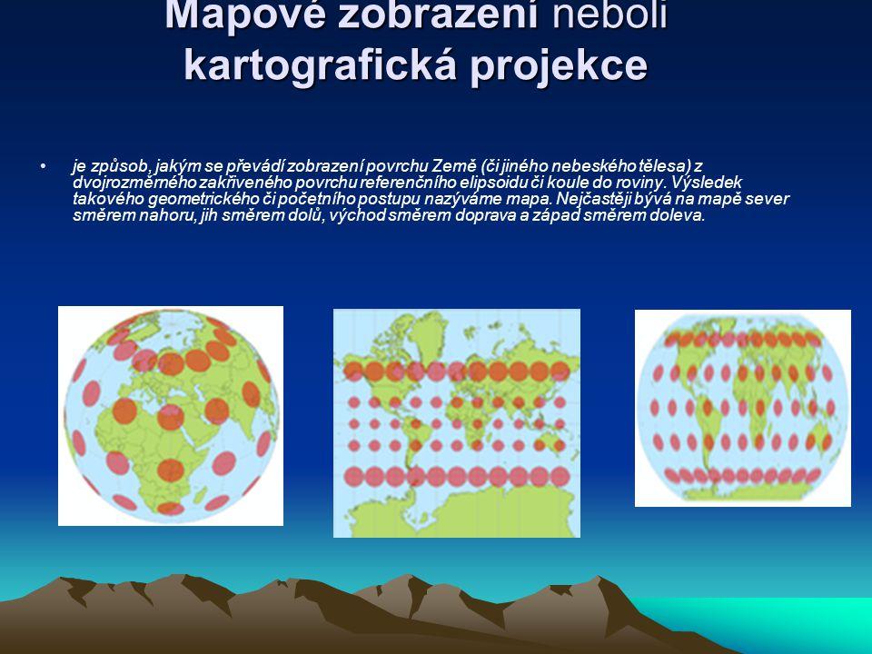 Mapové zobrazení neboli kartografická projekce je způsob, jakým se převádí zobrazení povrchu Země (či jiného nebeského tělesa) z dvojrozměrného zakřiv