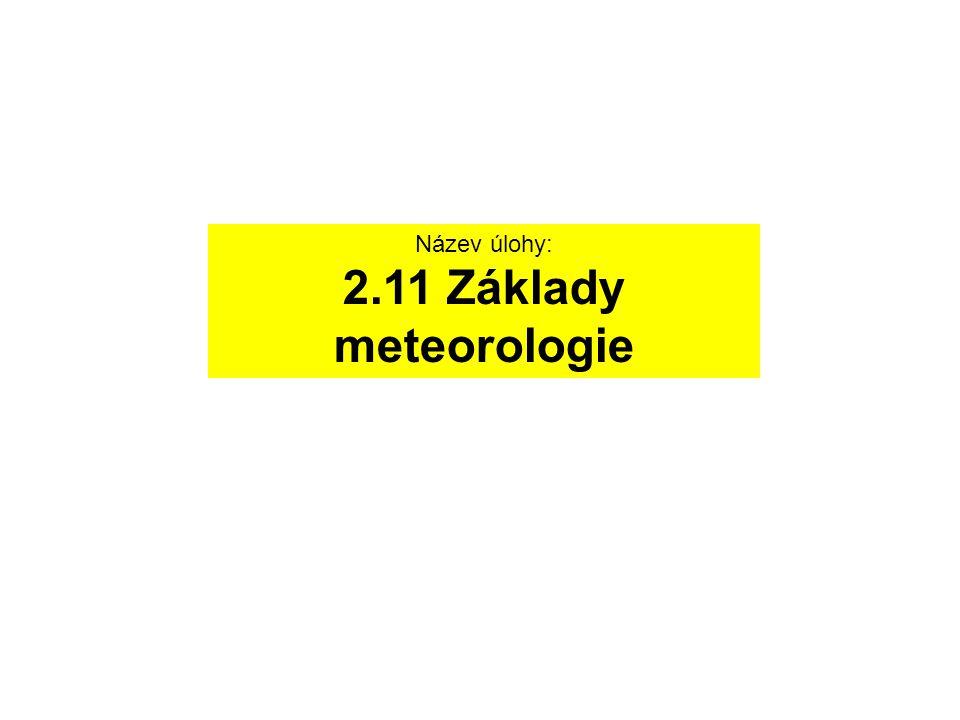Fyzikální princip Meteorologie se zabývá fyzikálními vlastnostmi atmosféry.