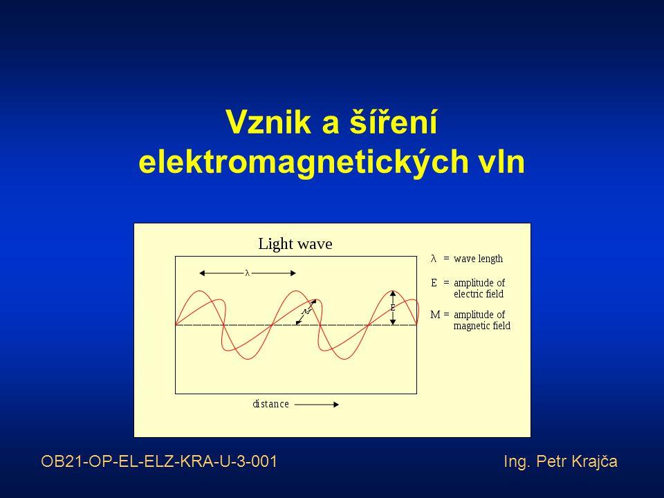 Vznik a šíření elektromagnetických vln OB21-OP-EL-ELZ-KRA-U-3-001 Ing. Petr Krajča