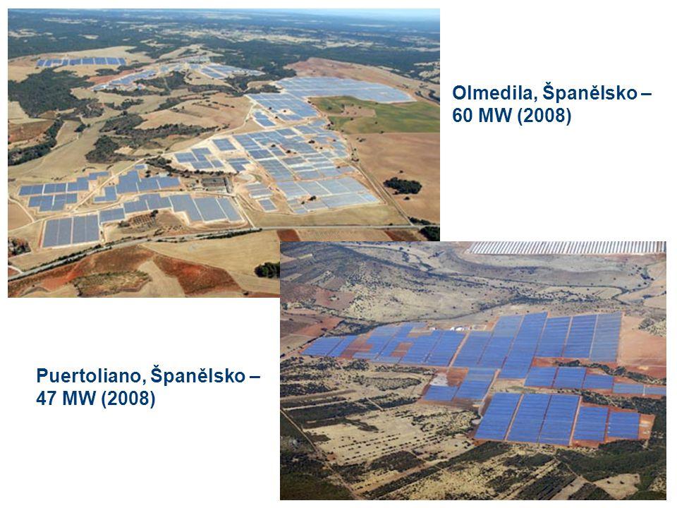 Olmedila, Španělsko – 60 MW (2008) Puertoliano, Španělsko – 47 MW (2008)