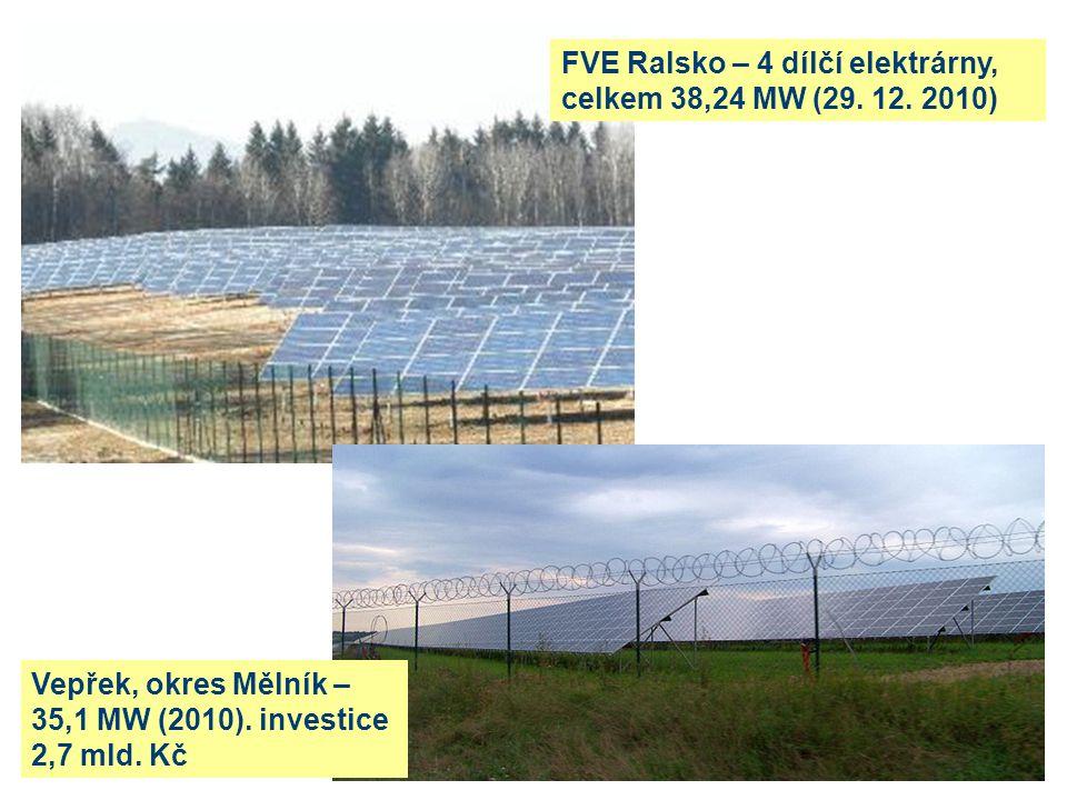 FVE Ralsko – 4 dílčí elektrárny, celkem 38,24 MW (29.