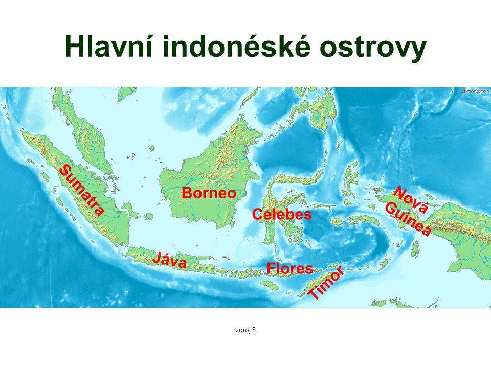 Hlavní indonéské ostrovy zdroj 8