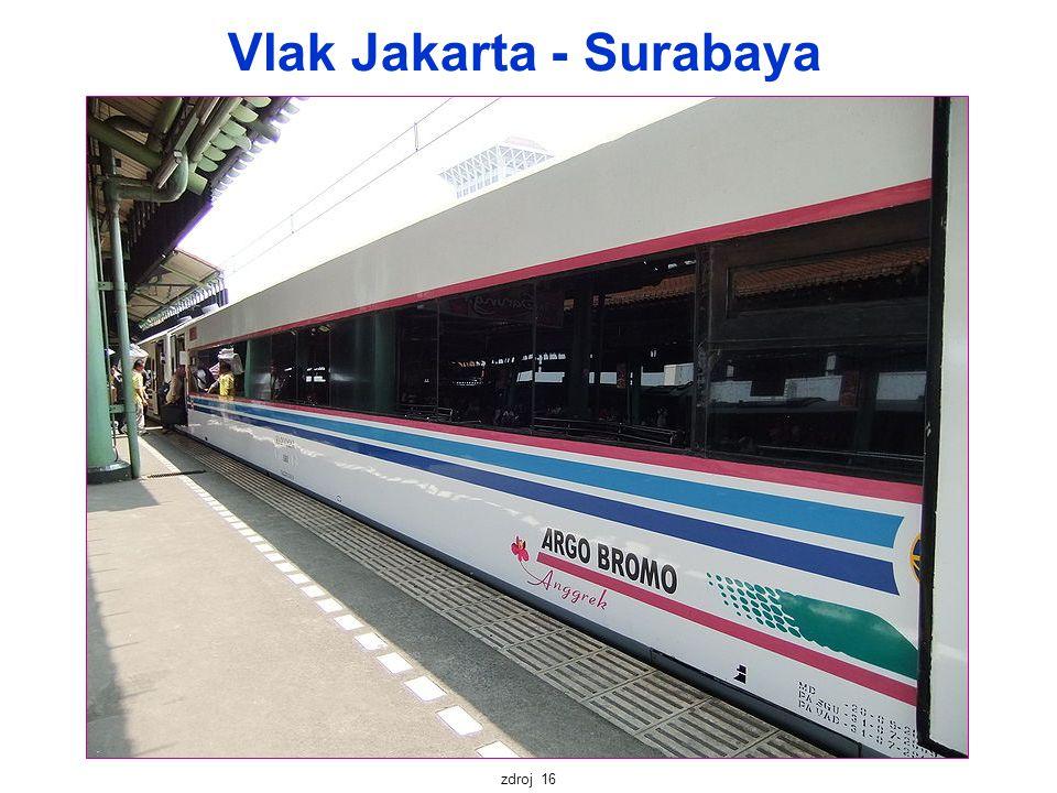 Vlak Jakarta - Surabaya zdroj 16