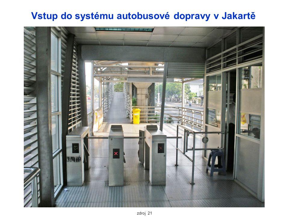 Vstup do systému autobusové dopravy v Jakartě zdroj 21