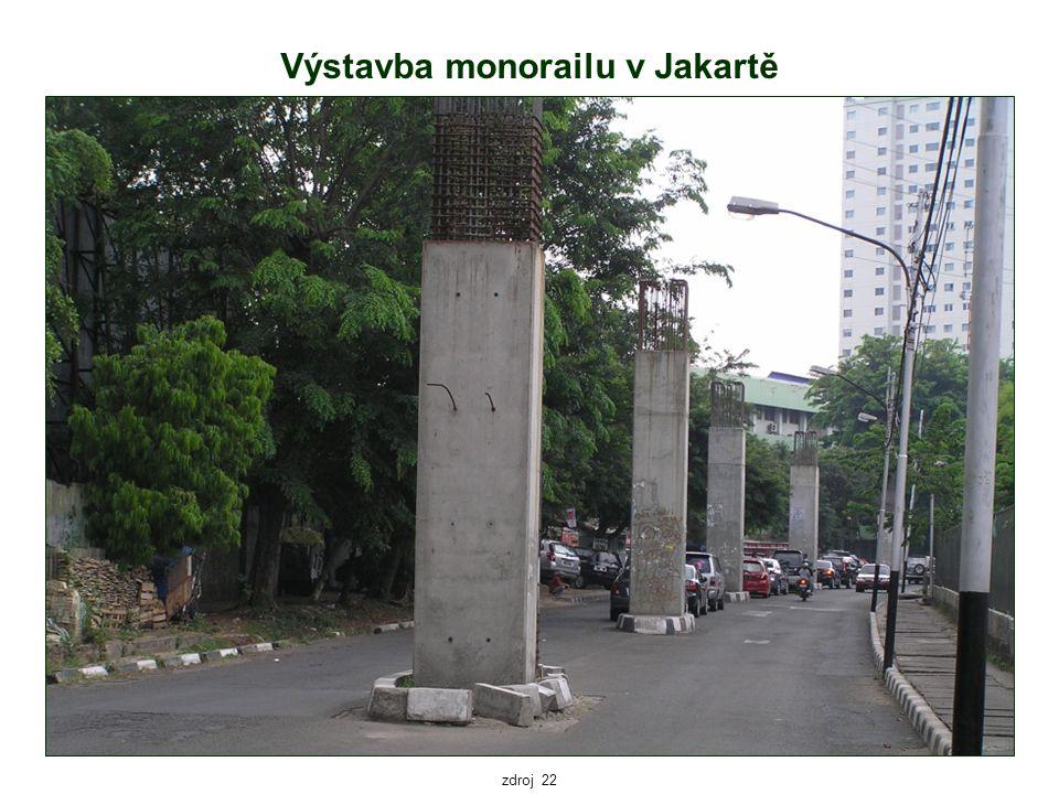 Výstavba monorailu v Jakartě zdroj 22
