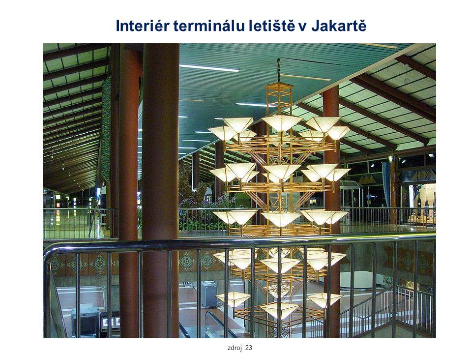 Interiér terminálu letiště v Jakartě zdroj 23